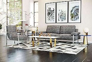 Modern Jonkoping Wheat Arm Chair, Gray, rollover