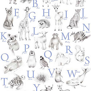 Oopsy Daisy Baby Animal Alphabet - Cadet by Nicky Quartermaine Scott Art Prints, , large