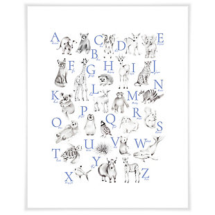 Oopsy Daisy Baby Animal Alphabet - Cadet by Nicky Quartermaine Scott Art Prints, , large