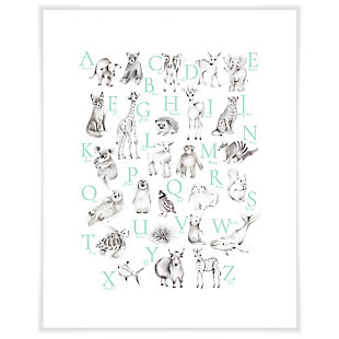 Oopsy Daisy Baby Animal Alphabet - Mint by Nicky Quartermaine Scott Art Prints, , large