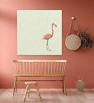 GreenBox Art Flamingo Walk by Cathy Walters Canvas Wall Art, , rollover