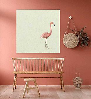 GreenBox Art Flamingo Walk by Cathy Walters Canvas Wall Art, Cream, rollover