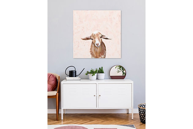 GreenBox Art Happy Goat Thoughts by Cathy Walters Paper Art Prints, Brown, large
