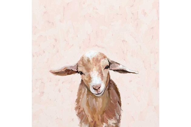 GreenBox Art Happy Goat Thoughts by Cathy Walters Canvas Wall Art, , large