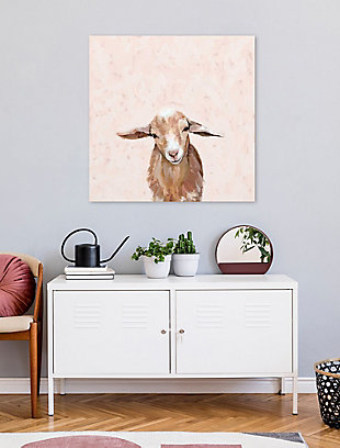 GreenBox Art Happy Goat Thoughts by Cathy Walters Canvas Wall Art, Brown, rollover