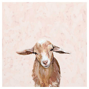 GreenBox Art Happy Goat Thoughts by Cathy Walters Canvas Wall Art, Brown, large