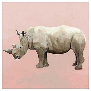 GreenBox Art Rhino On Deep Blush by Cathy Walters Art Prints, , large