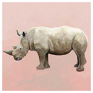 GreenBox Art Rhino On Deep Blush by Cathy Walters Canvas Wall Art, , large