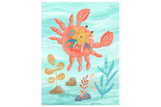 Oopsy Daisy Sea Life Friends - Crab by Olivia Gibbs Canvas Wall Art, , large