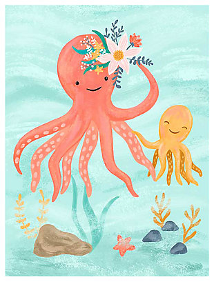 Oopsy Daisy Sea Life Friends - Octopus by Olivia Gibbs Canvas Wall Art, , large