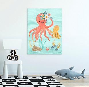Oopsy Daisy Sea Life Friends - Octopus by Olivia Gibbs Canvas Wall Art, Blue, rollover