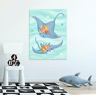 Oopsy Daisy Sea Life Friends - Stingrays by Olivia Gibbs Canvas Wall Art, , rollover