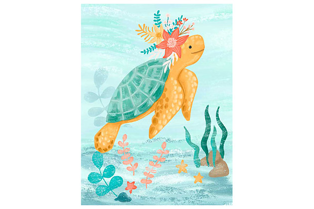 Oopsy Daisy Sea Life Friends - Turtle by Olivia Gibbs Canvas Wall Art, , large
