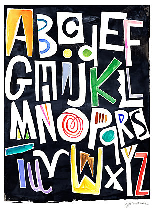 Oopsy Daisy Silk Alphabet Color by Jill McDonald Posters That Stick, , large