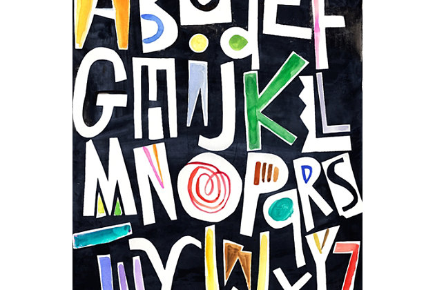 Oopsy Daisy Silk Alphabet Color by Jill McDonald Posters That Stick, Black, large