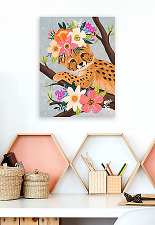 Oopsy Daisy Sweet Cheetah On Branch by Olivia Gibbs Paper Art Prints, , rollover