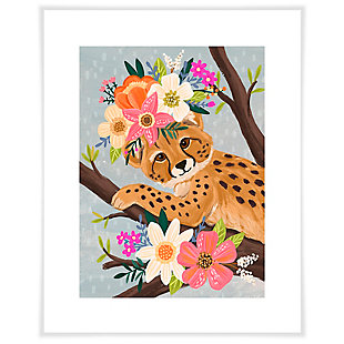 Oopsy Daisy Sweet Cheetah On Branch by Olivia Gibbs Paper Art Prints, , large