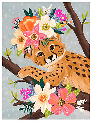 Oopsy Daisy Sweet Cheetah On Branch by Olivia Gibbs Canvas Wall Art, , large