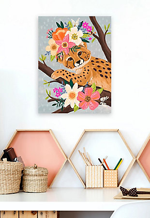 Oopsy Daisy Sweet Cheetah On Branch by Olivia Gibbs Canvas Wall Art, Brown, rollover