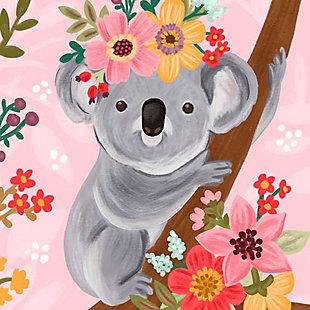 Oopsy Daisy Sweet Koala On Branch by Olivia Gibbs Paper Art Prints, Pink, large