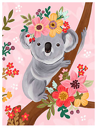 Oopsy Daisy Sweet Koala On Branch by Olivia Gibbs Canvas Wall Art, , large