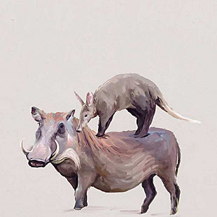 GreenBox Art Warthog and Anteater by Cathy Walters Paper Art Prints, Brown, large