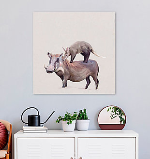 GreenBox Art Warthog & Anteater by Cathy Walters Canvas Wall Art, Brown, rollover