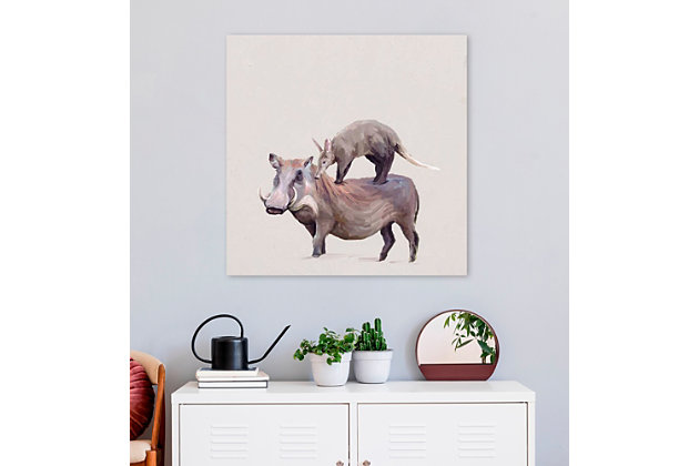 GreenBox Art Warthog & Anteater by Cathy Walters Canvas Wall Art, Brown, large