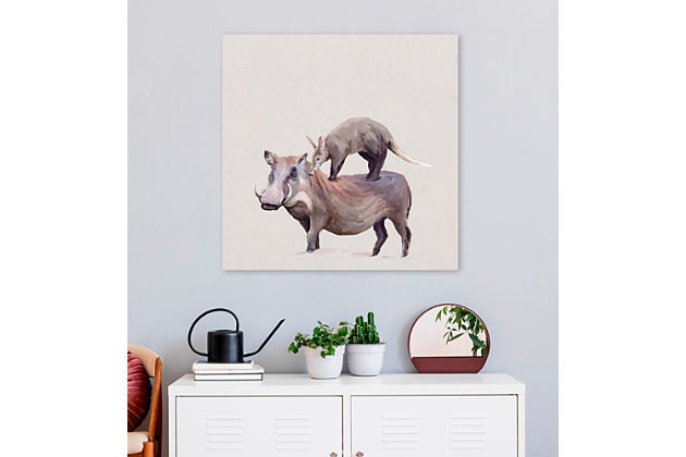 GreenBox Art Warthog & Anteater by Cathy Walters Canvas Wall Art, , large