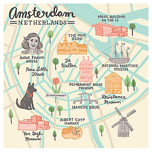 Oopsy Daisy World Traveler - Amsterdam Netherlands by Anne Bollman Posters That Stick, , large