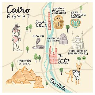 Oopsy Daisy World Traveler - Cairo Egypt by Anne Bollman Posters That Stick, , large