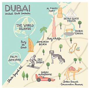 Oopsy Daisy World Traveler - Dubai UAE by Anne Bollman Posters That Stick, , large