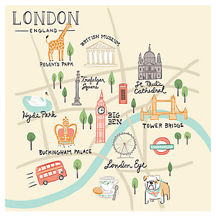 Oopsy Daisy World Traveler - London England by Anne Bollman Posters That Stick, , large