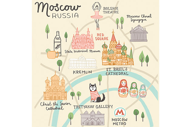 Oopsy Daisy World Traveler - Moscow Russia by Anne Bollman Posters That Stick, , large