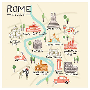 Oopsy Daisy World Traveler - Rome Italy by Anne Bollman Posters That Stick, , large