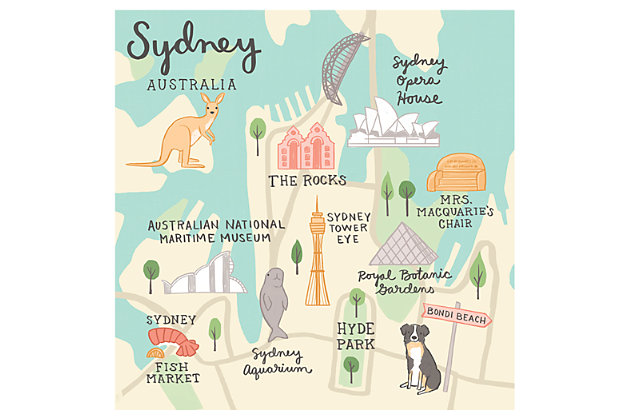 Oopsy Daisy World Traveler - Sydney Australia by Anne Bollman Posters That Stick, , large