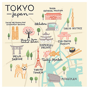 Oopsy Daisy World Traveler - Tokyo Japan by Anne Bollman Posters That Stick, , large