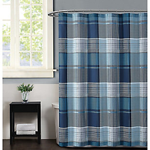 Pem America Truly Soft Trey Shower Curtain, , large