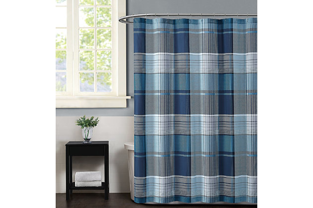 Pem America Truly Soft Trey Shower Curtain, , large