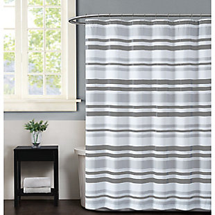 Pem America Truly Soft Curtis Stripe Shower Curtain, , large