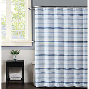 Pem America Truly Soft Waffle Stripe Shower Curtain, , large
