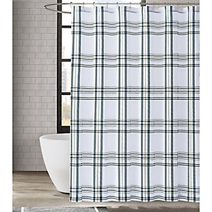Pem America London Fog Kent Plaid Shower Curtain, , rollover