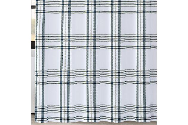 Pem America London Fog Kent Plaid Shower Curtain, , large