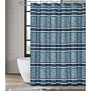 Pem America London Fog Mitchell Stripe Shower Curtain, , rollover