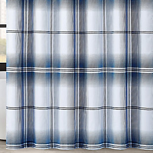 Pem America London Fog Nolan Houndstooth Stripe Shower Curtain, , large