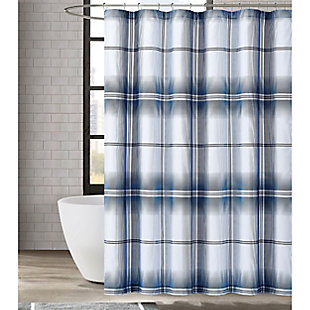 Pem America London Fog Nolan Houndstooth Stripe Shower Curtain, , rollover