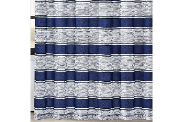 Pem America London Fog Watkins Stripe Shower Curtain, , large