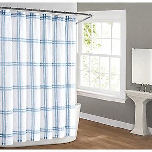 Pem America Cottage Classics Farmhouse Plaid Shower Curtain, , large