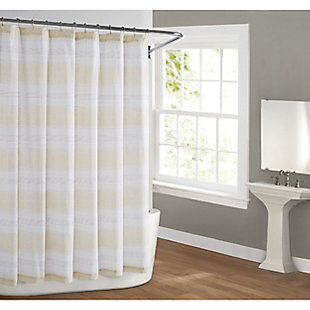 Pem America Cottage Classics Farmhouse Stripe Shower Curtain, , rollover