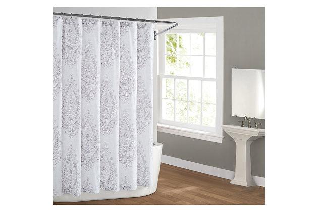 Pem America Cottage Classics Paisley Blossom Shower Curtain, , large